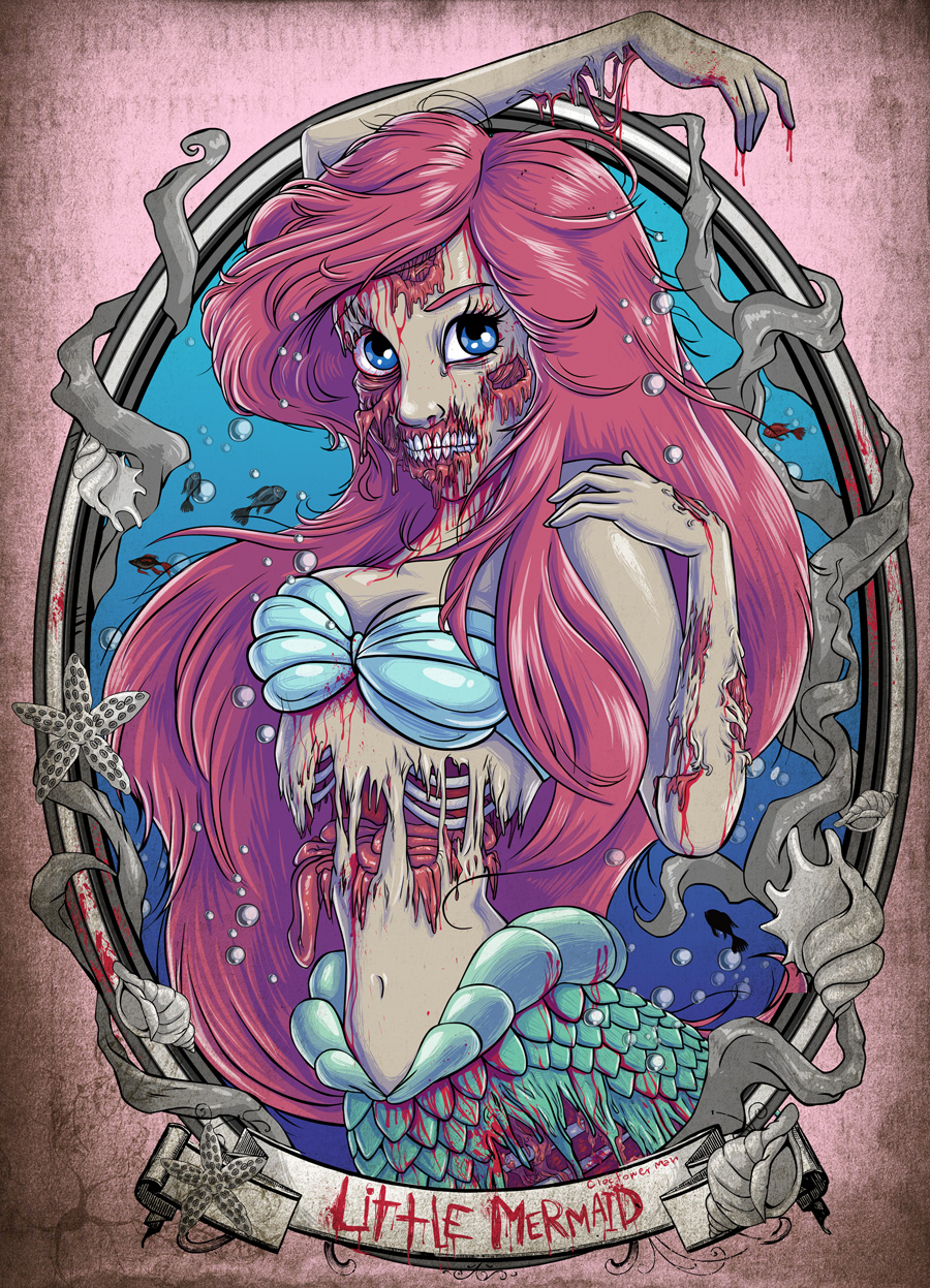 Zombie Disney princesses fell under a scarier  less glamorous spell    Zombie Disney Princesses