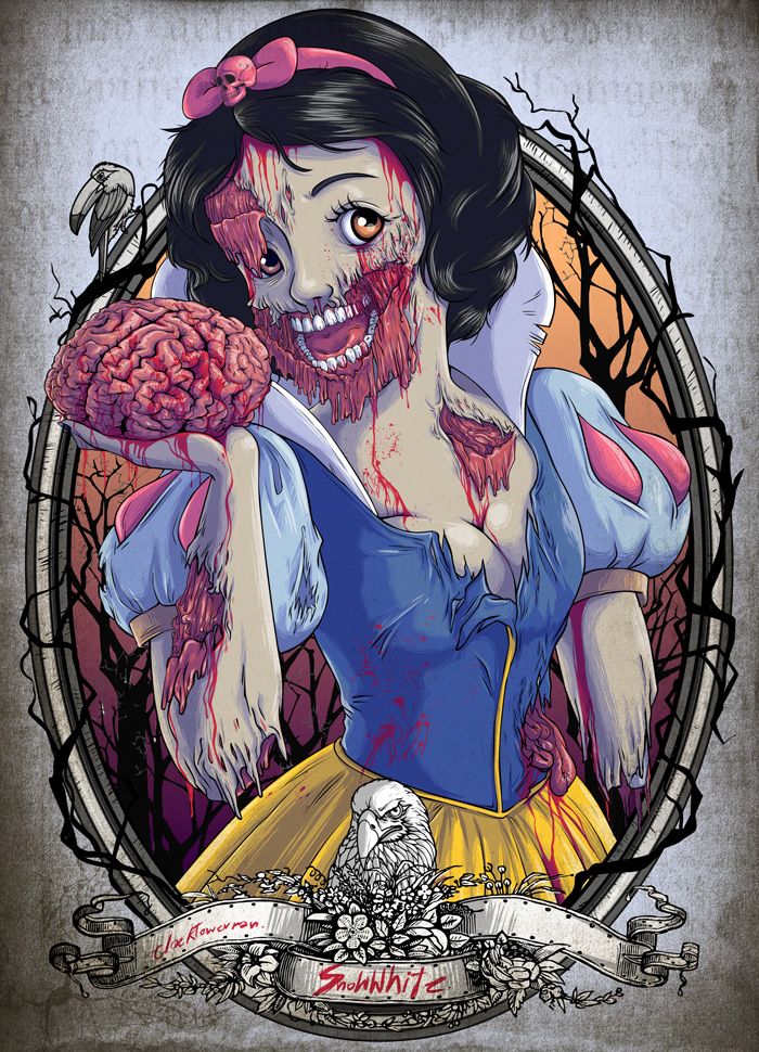 Zombie Disney princesses fell under a scarier, less glamorous spell ...
