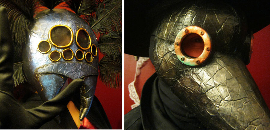 Bb readers 39 diy costumes spider and plague doc masks for Xeni jardin husband