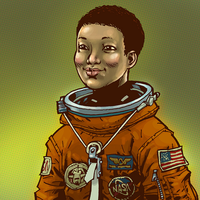 Illustrated portraits of woman astronauts - Boing Boing