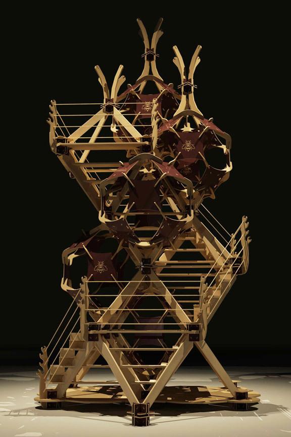 Wooden Jigsaw Team Build