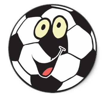 Happy cartoon soccer ball sticker p217812712319460819z85xz 400