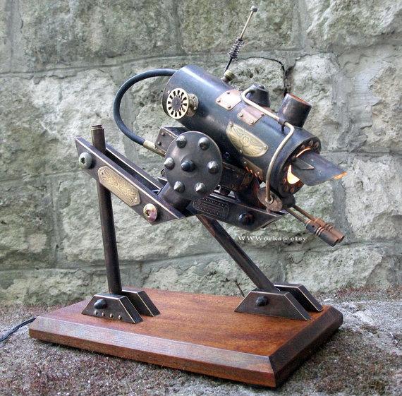 the at sp steampunk walker desk lamp is for sale in wwworks 39 s etsy. Black Bedroom Furniture Sets. Home Design Ideas