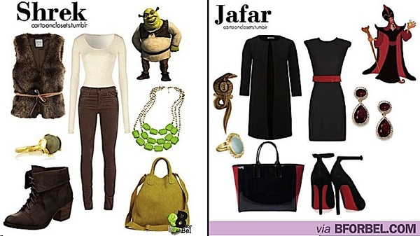 Cartoon Characters Outfits : Fashionable outfits inspired by cartoon characters boing