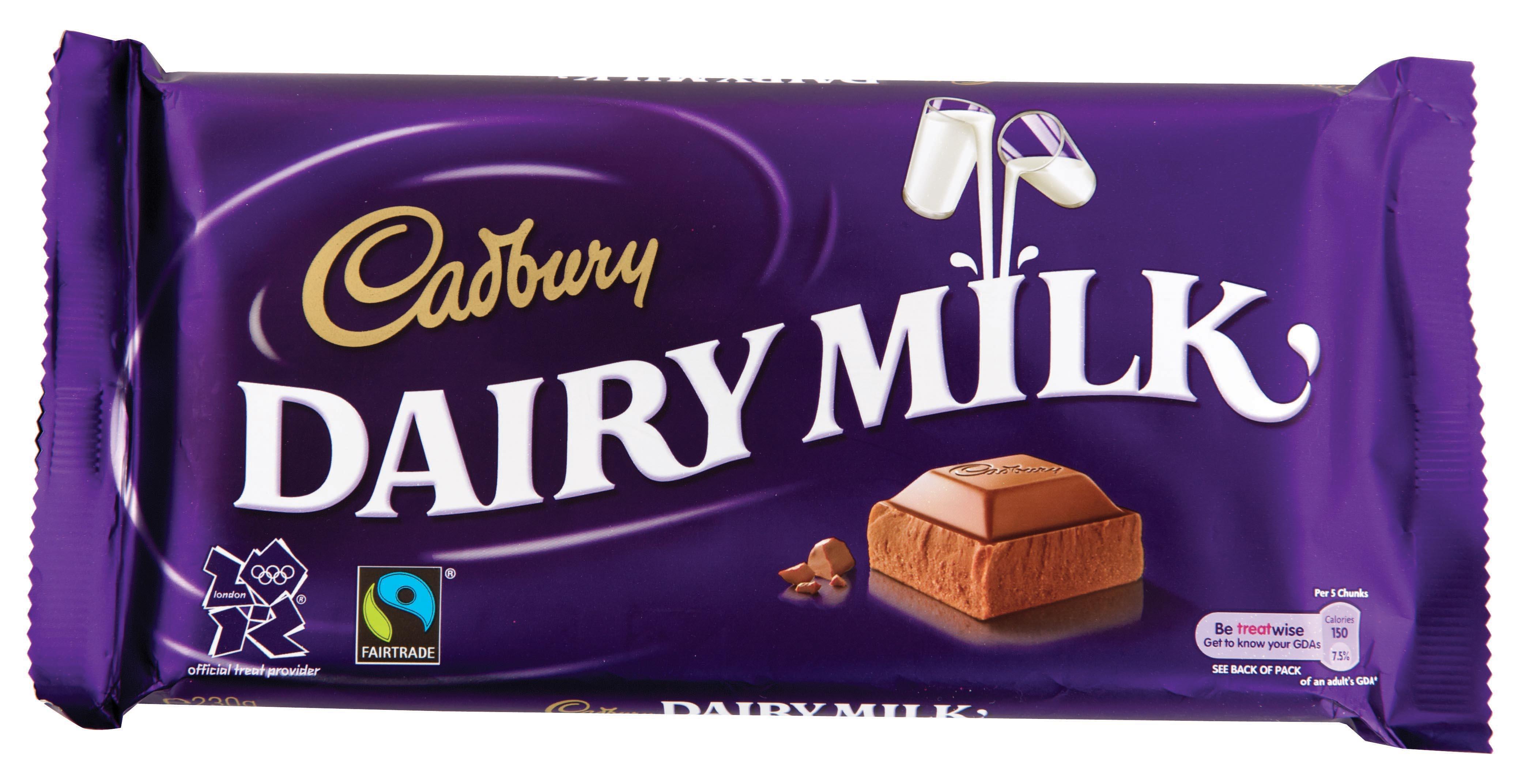 Cadbury Chocolate Bar Wrappers