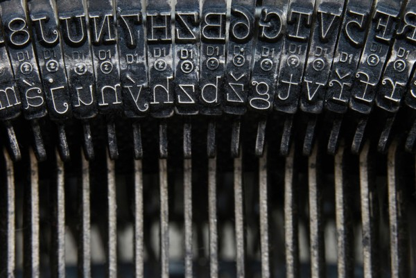 """Letters on typewriter,"" by Malota, via Shutterstock."