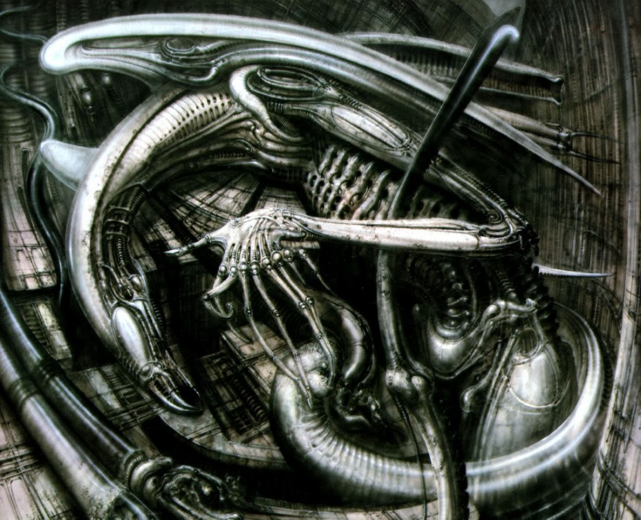 'Necronomicon IV,' by HR Giger (1976).