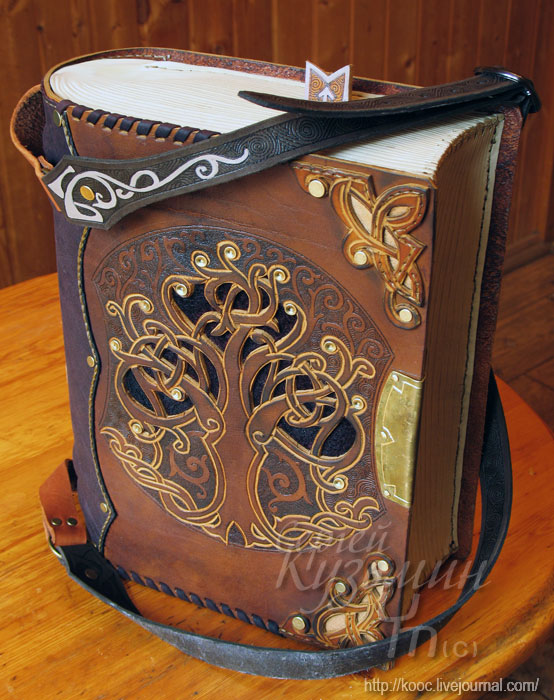 How To Make A Book Cover With Leather ~ Astounding steampunk leatherwork bags and books boing
