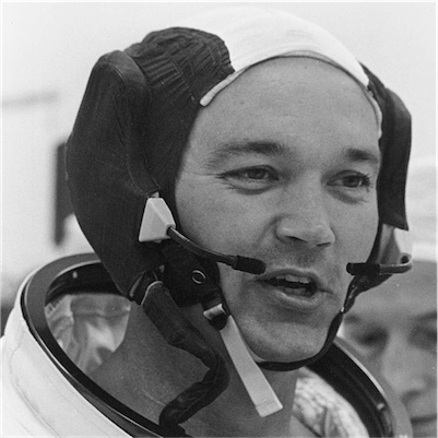 Michael Collins suiting up Apollo 11
