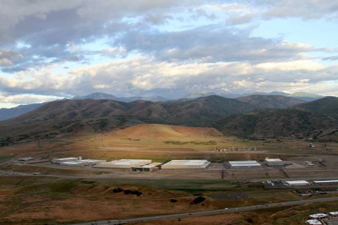 An aerial view of the NSA's Utah data center, taken by activists with the Electronic Frontier Foundation .
