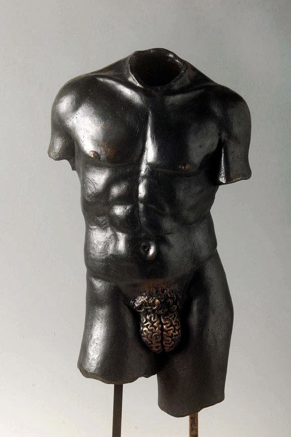 Racional: Male Sculpture with 'Brain Genitalia,' Yoan Capote.