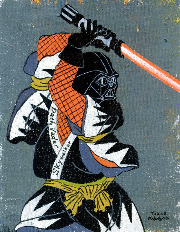 "Takao Nakagawa,  Ukiyoe Character series 7: STAR WARS Darth Vader,"" 2014"