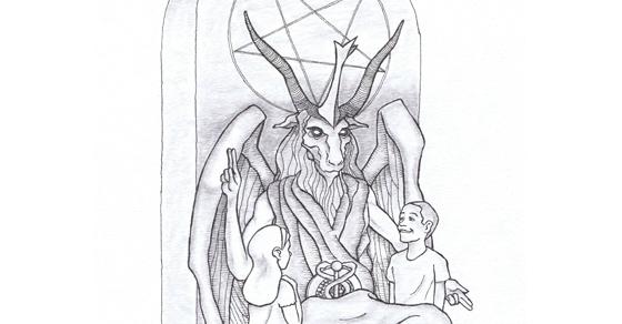 Satanic-monument-goat-headed-god