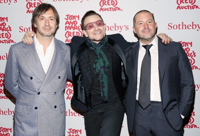 Marc Newson, Bono, and Jonathan Ive. Image: Vanity Fair.