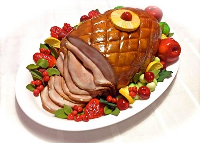Turkey Dinner Thst Looks Like Wedding Cake
