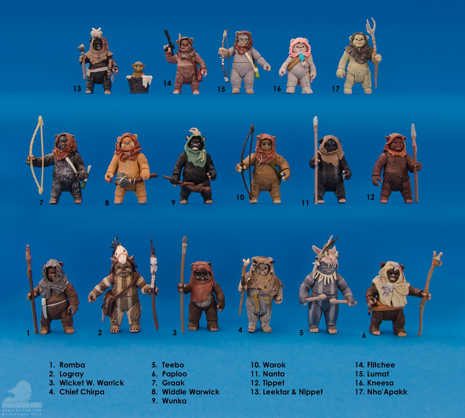 Toys Star Wars : Ewok action figures featured on rebelscum