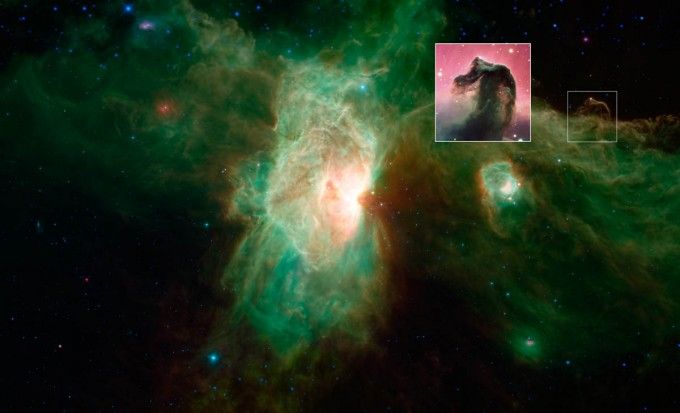 A ghostly view of Horsehead nebula in new image from ...