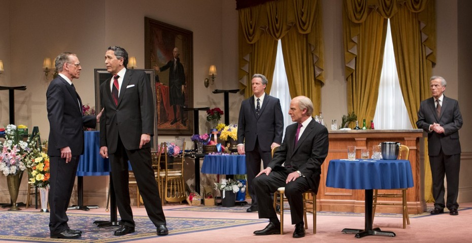 Mark Jacoby, Steve Sheridan, Brit Whittle, John Bolger and Martin L'Herault in Arizona Theatre Company's