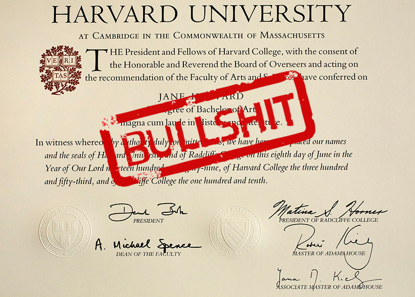A Fake Harvard Diploma Costs 650 Boing Boing