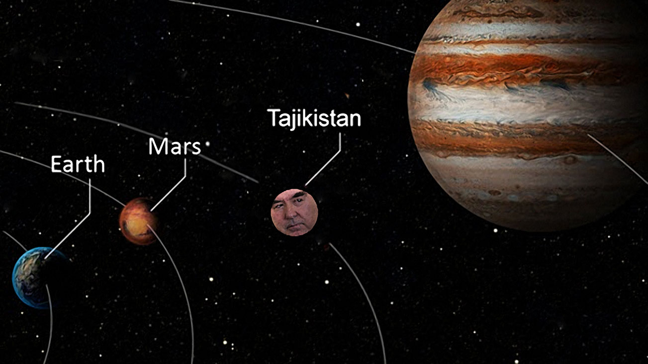 Tajikistan creates planet, names it after self / Boing Boing